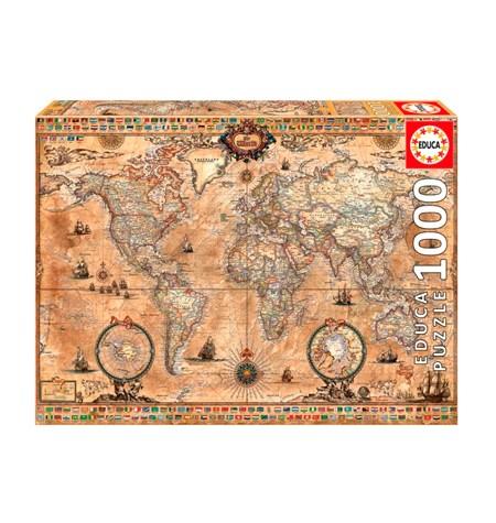 Puzzle 1000 Mapamundi Antiguo – Educa