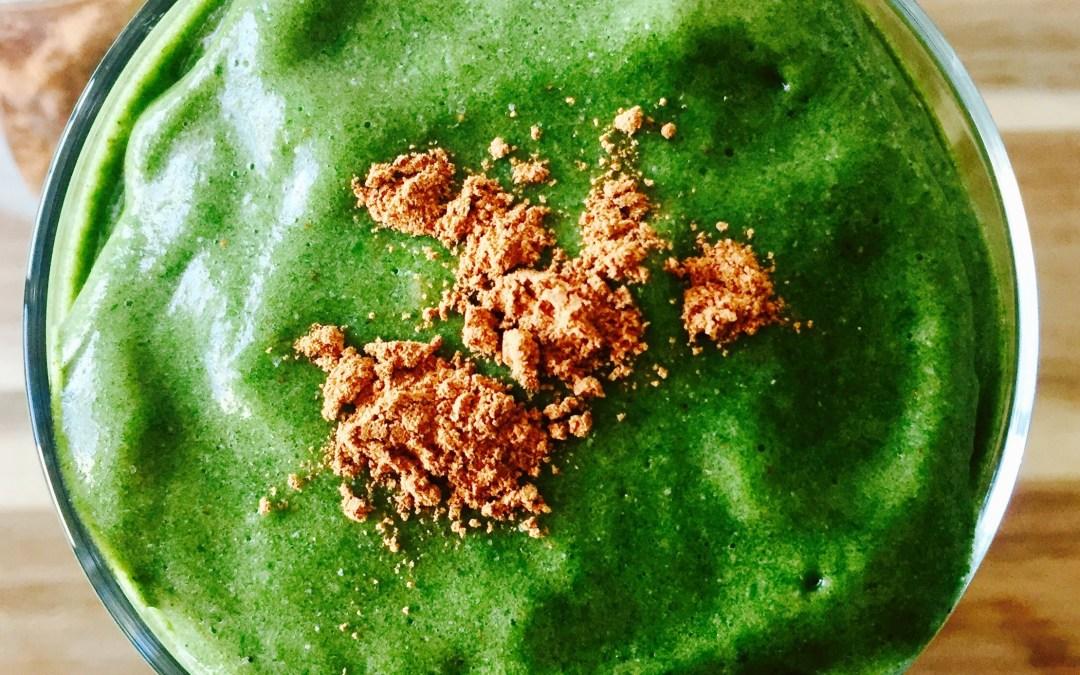 Green Pumpkin Pie Smoothie (Dairy Free, High-Fiber, Paleo)