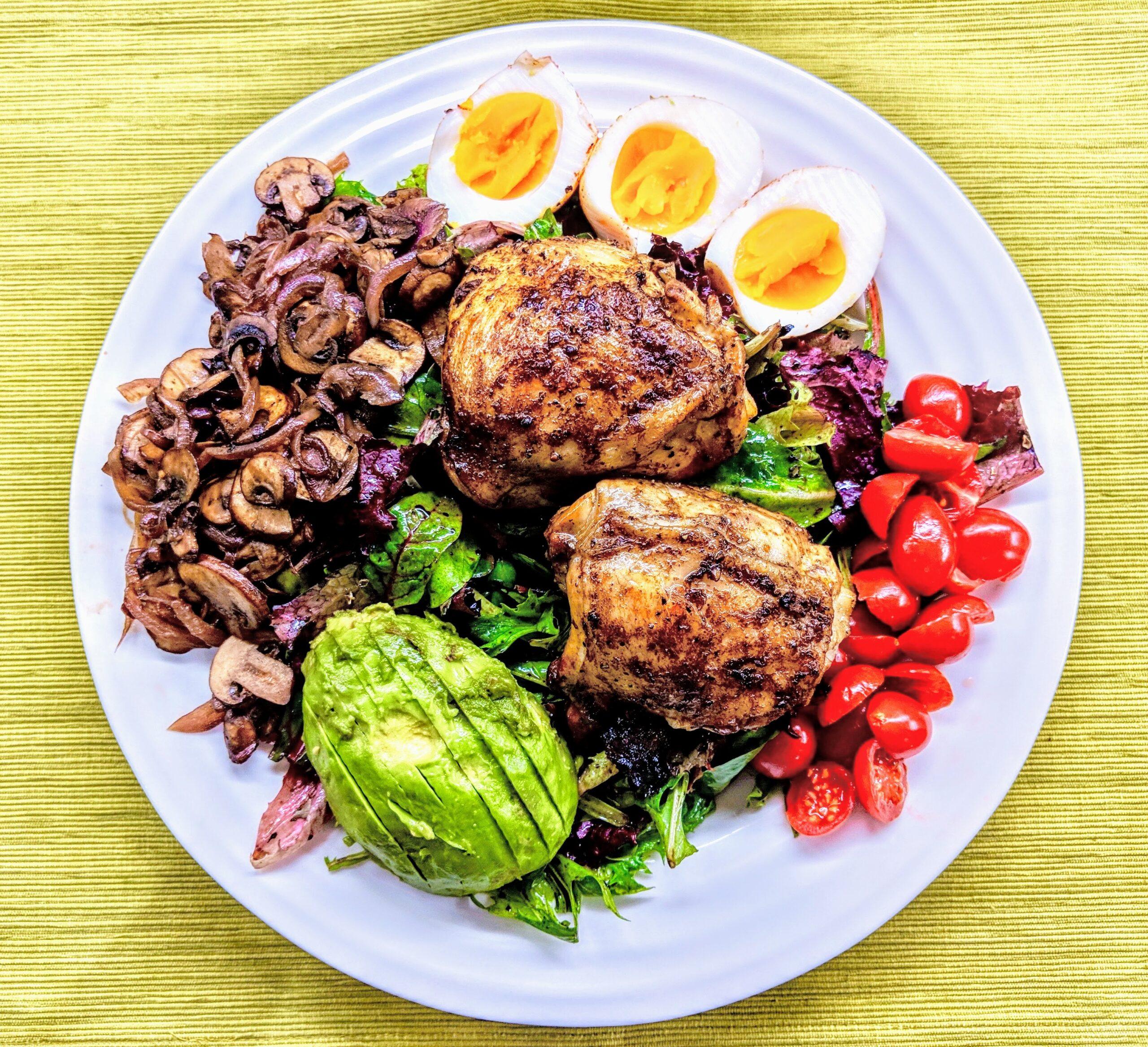 Mediterranean Cobb Salad Paleo, Keto AIP