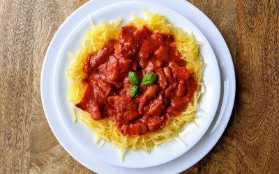 """Paleo """"Spaghetti"""" alla Vodka (Low-Carb, Gluten & Dairy Free)"""