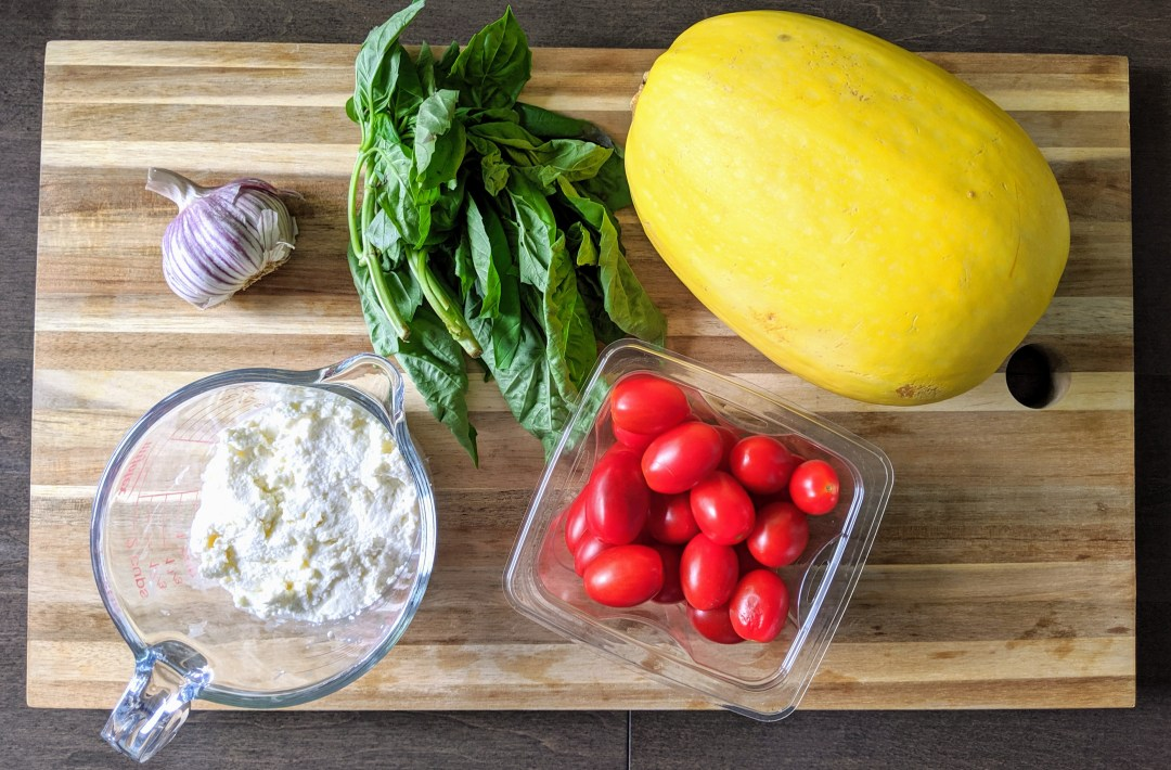"""""""Spaghetti"""" with Ricotta & Cherry Tomatoes (Gluten & Grain Free, Low-Carb)"""