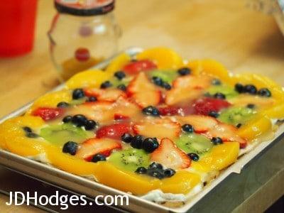 Fruit Pizza sample photo taken with Olympus MSC ED M. 60mm f/2.8 Macro Lens
