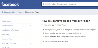 Facebook provides instructions too
