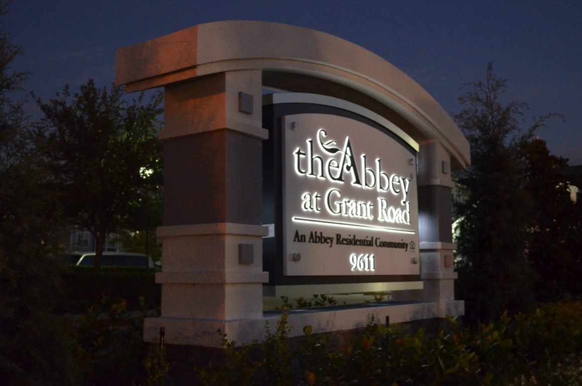 The Abbey at Grant Road ID sign