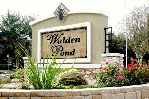 Walden Pond Identification sign