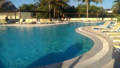 One of the Fairmont Mayakoba's dozen or so pools.