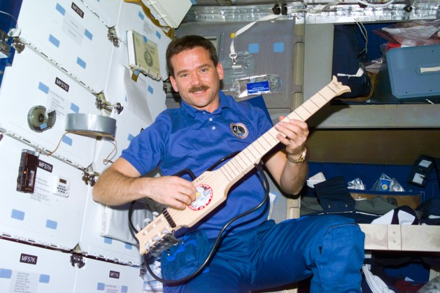 Space-man/guitarist Chris Hatfield, photo courtesy of NASA