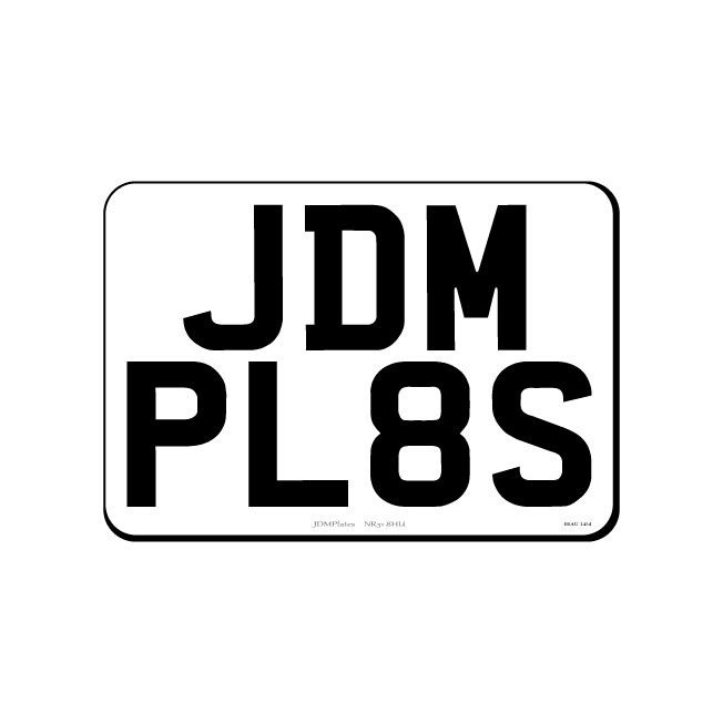 Small Square JDM Front & Rear Bespoke Legal Number Plates