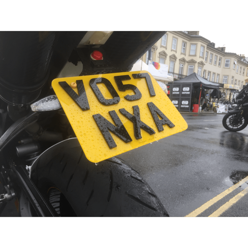Small 4D 3mm UK Bespoke Legal Number Plates For Motorcycles