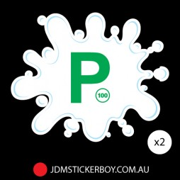 0452ST - P Plate Splatter Green NSW-354x284
