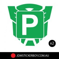 0454ST - P Plate Green Autobot 250x235