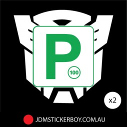 0455ST - P Plate Green NSW Autobot 250x235