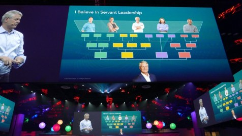 ServiceNow's new CEO's vision of leadership: customers at the top, and the CEO at the bottom.