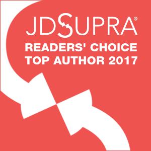 JD Supra Readers Choice Top Author 2017