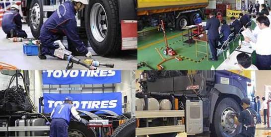 タイヤ整備技術、更なる高みへ 各社が技能コンテスト開催