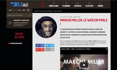 Interview de Marcus Miller sur Club U Jazz et portrait de Jean-Baptiste Millot