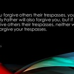 Forgiving isn't easy