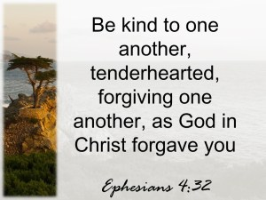 Must I forgive? Ephesians says yes