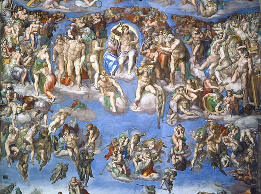 Sorrow in Heaven depicted in Last Judgement