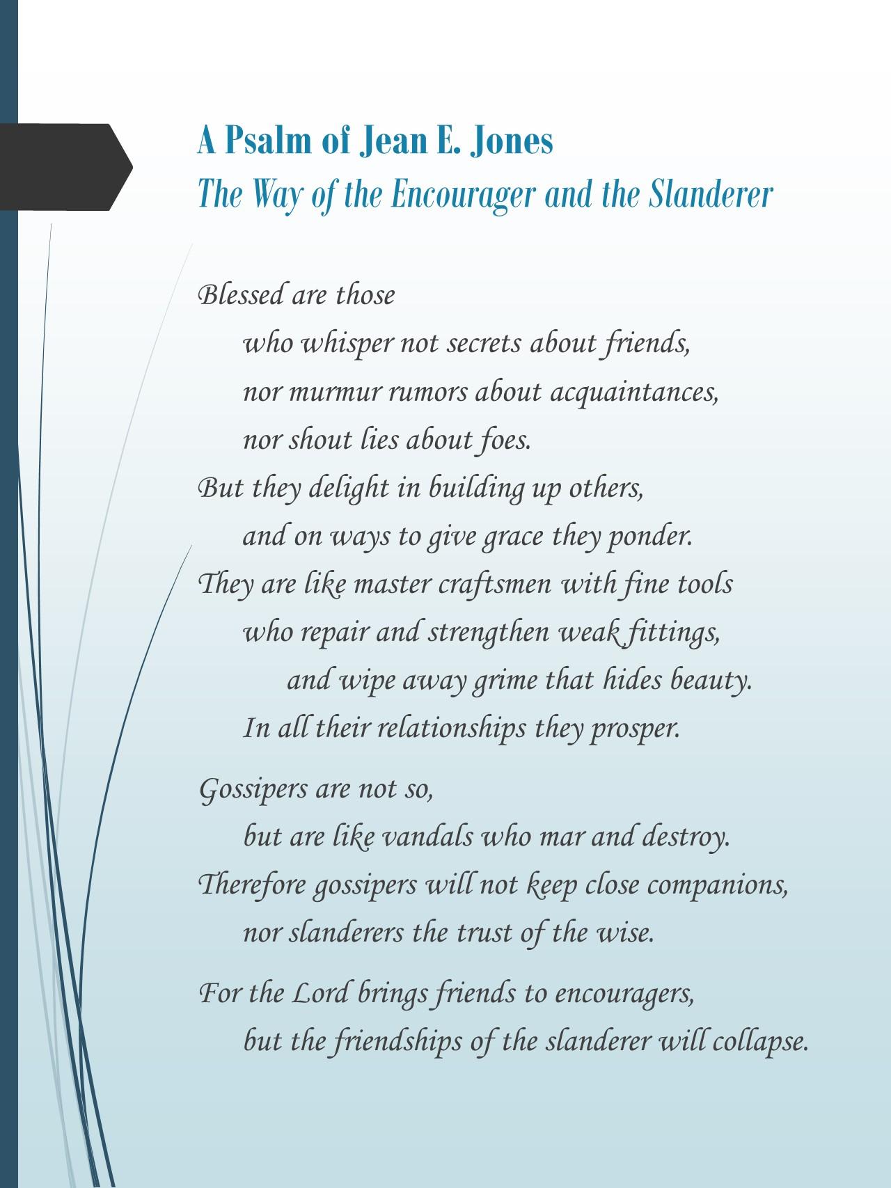 27 Reasons to Write a Wisdom Psalm (and How to Do It) - Jean E. Jones