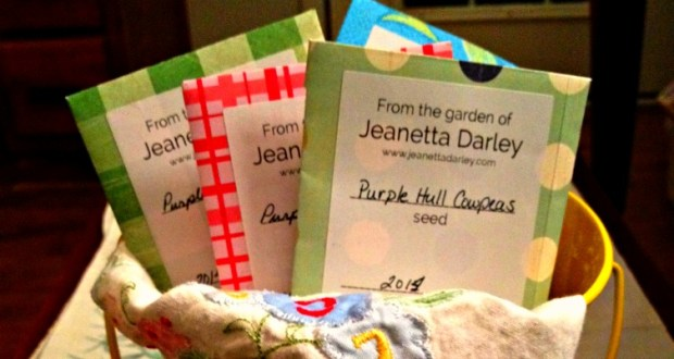 seed, packets, craft, handmade, seed saving, seed swap. purple hull peas,grow your own