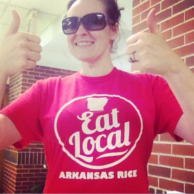 Eat local arkansas rice tshirt