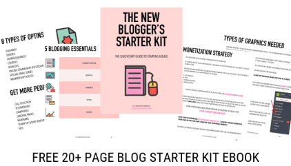 New Blogger's Starter Kit - The 5 Blogging Essentials
