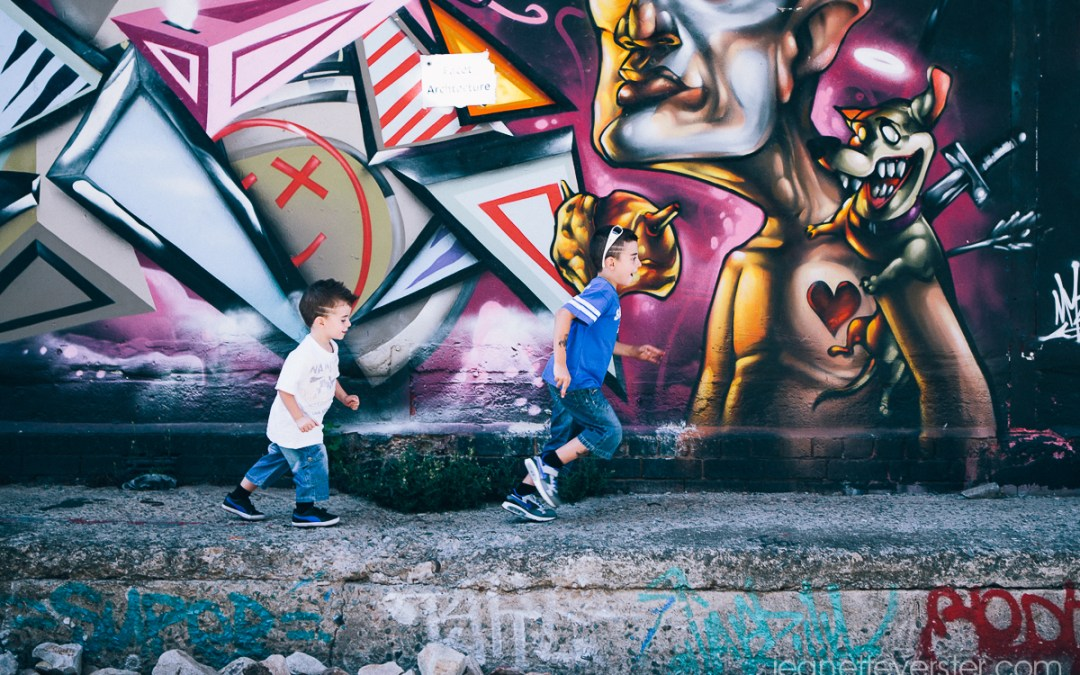 Alessio and Massimo in the city