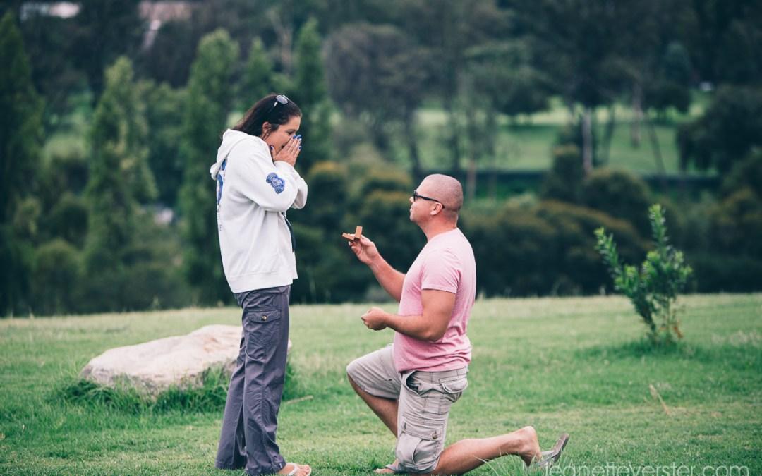 Jonathan's wedding proposal to Laurice
