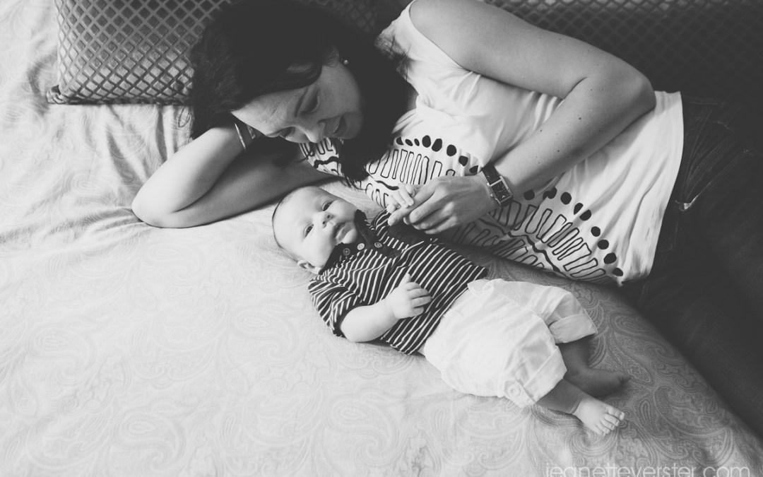 Baby Daniel at home