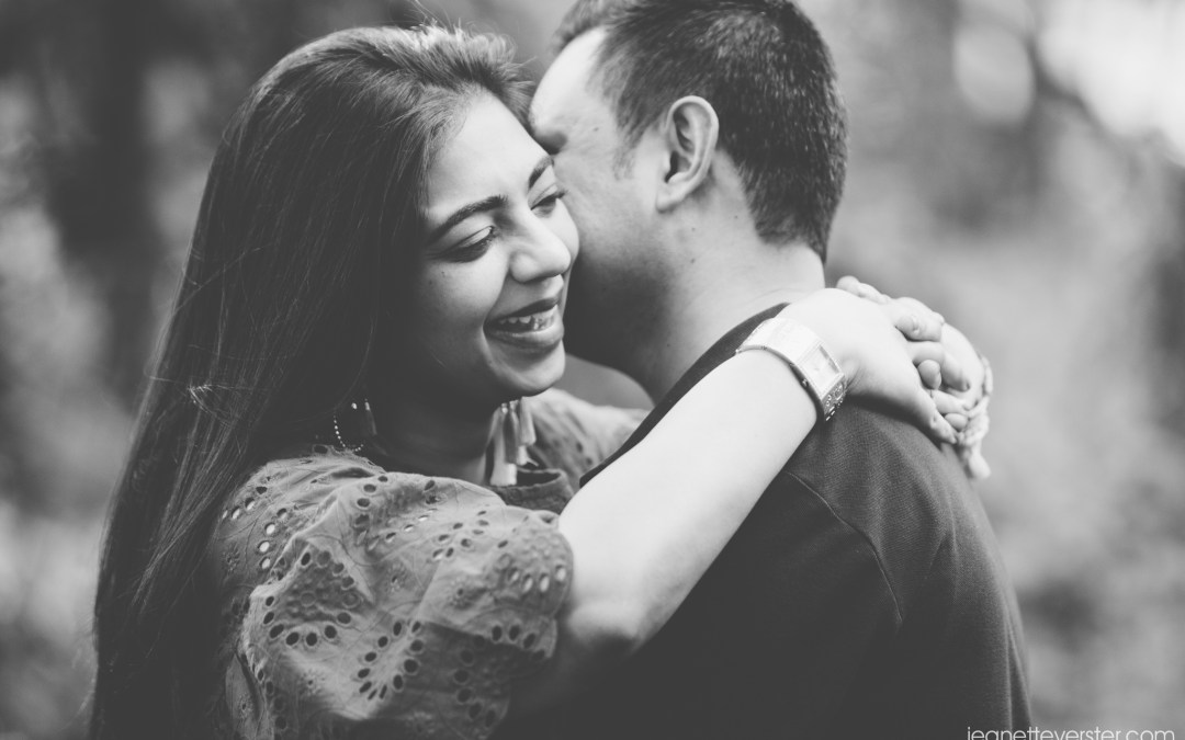 Riona and Ajay's couple photo shoot at Walter Sisulu gardens