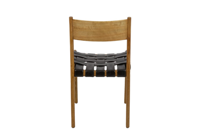 series of six scandinavian chairs in teak andleather 1960 s