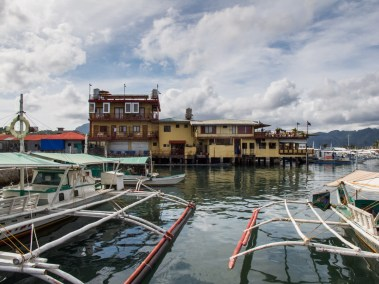 Down at the docks in Coron Town.