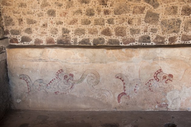 This building is just behind the Palace of Quetzalpapalotl, and houses a number of surviving murals depicting jaguars.