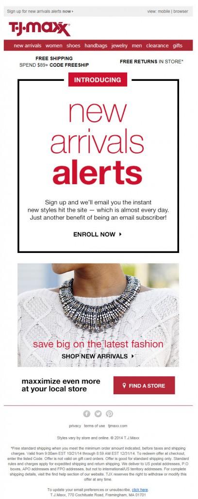TJ Maxx email