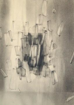 Apesanteur (crayon sur papier Ingres 30 x 21 cm)