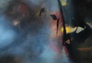 L'ange du soir (acrylique sur toile 38 x 55 cm)