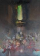 Le seuil (huile sur toile 46 x 33 cm)