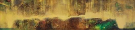 Traversée I (acrylique sur bois 16 x 65 cm)