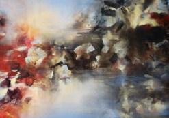Temps incertain (acrylique sur toile 65 x 92 cm)