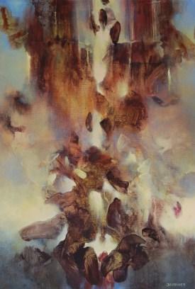 Le chaos dissipé (acrylique sur toile 73 x 50 cm) 2016