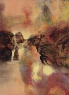 """Série Paysage """"le Soir"""" (acrylique sur toile 33 x 24 cm) 2014"""