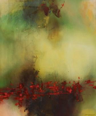 Terre sanglante (acrylique sur toile 73 x 50 cm) 2016