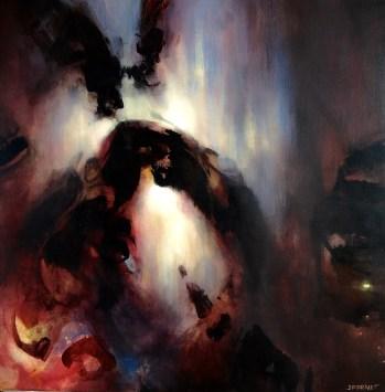 Ombre de nuit (acrylique sur toile 100 x 100 cm) 2016