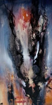 Hiver (acrylique sur toile 100 x 50 cm)