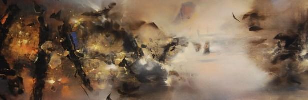 Long voyage (acrylique sur toile 50 x 150 cm)