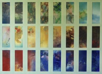 Etude pour 12 Chants de la terre et du ciel (pastels 50 x 70 cm)
