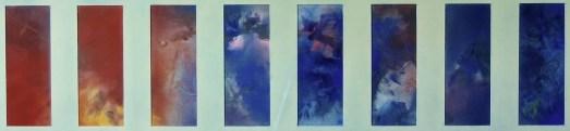 Etude pour 12 Chants de la Terre et du Ciel (Soir et Nuit) (8 pastels)
