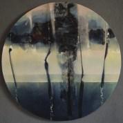 Horizon (acrylique sur toile diamètre 50 cm) 2018