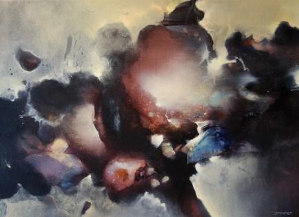 Tempête II (acrylique sur toile 73x100cm) 2018